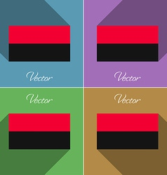 Flags UPA Set of colors flat design and long vector image