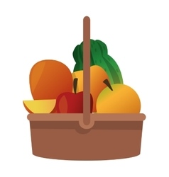 fruit basket icon vector image
