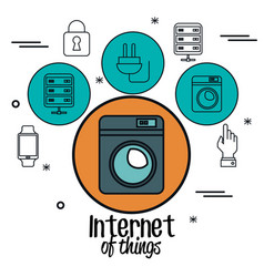 Internet of things icons vector