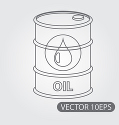 metal barrel oil storage icon black and white vector image