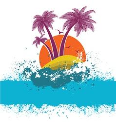 symbol of tropical island vector image