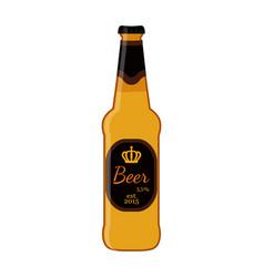 beer glass bottle cartoon flat style vector image