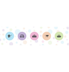 5 carry icons vector