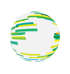abstract digital sphere technology logo vector image
