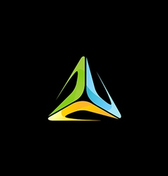 abstract triangle colorful technology logo vector image