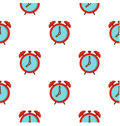 Alarm clock pattern seamless vector