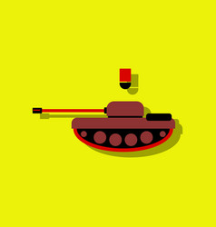 Anti-tank mine bomb in sticker style vector