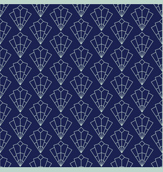 Art deco seamless pattern geometrical background vector