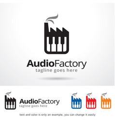 Audio factory symbol template design vector