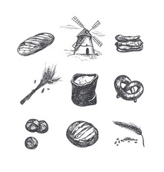 bakery shop set 5 vector image