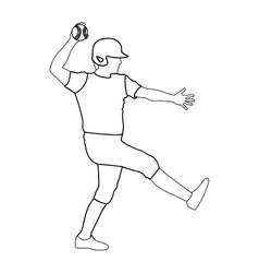 baseball player icon image vector image vector image