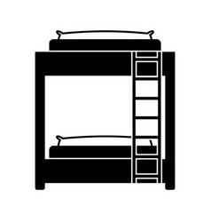 Bed room symbol vector