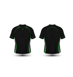 Black and green layout football sport t-shirt vector