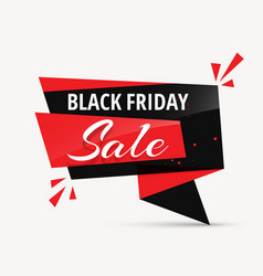 black friday sale chat bubble promotional template vector image