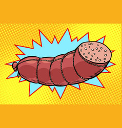 boiled sausage farm product vector image