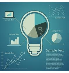 bulb concept of success an idea vector image