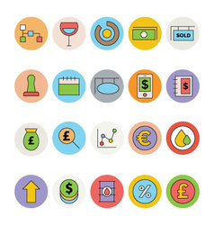Business and Office Colored Icons 11 vector