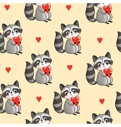 Cartoon raccoon in vector image