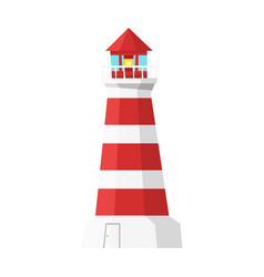 cartoon style lighthouse vector image