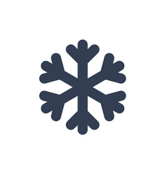 Chsnowflake icon black silhouette snow flake sign vector