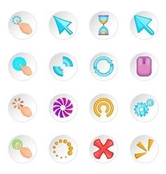 Click cursors icons set vector