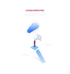 cloud computing - modern isometric web vector image