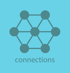 Connections glyph color icon vector