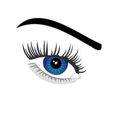 Contact lens business logo vector