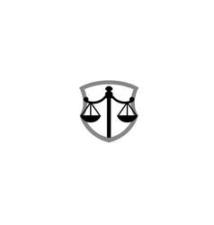 creative scale justice law logo vector image