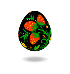 easter egg ornament hohloma vector image