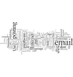 email and newsgroup etiquette vector image