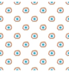 Eye treatment pattern cartoon style vector image
