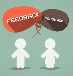 Feedback Flat Design Symbol with Paper People vector image