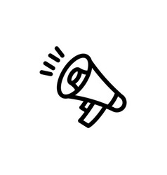 flat line megaphone icon symbol sign logo vector image