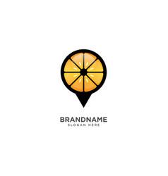 Fruit store logo design pinned symbol icon vector
