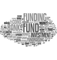 fund word cloud concept vector image