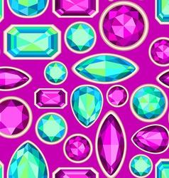 Gemstone seamless pattern vector