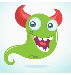 happy cartoon monster vector image