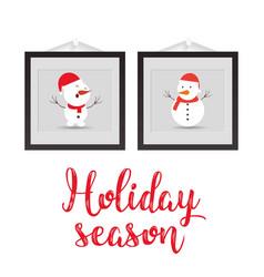 Holiday season with frame vector