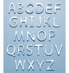 ice alphabet vector image