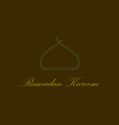 icon in a flat style ramadan logo vector image