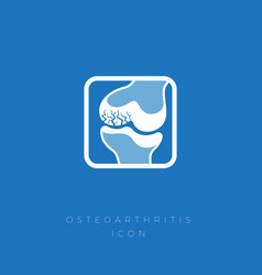 icon osteoarthritis cracks cartilage joint vector image