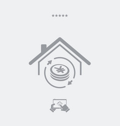 Investment property - real estate - web icon vector