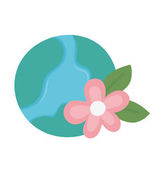 Isolated planet and flower design vector