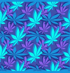 isometrcic marijuana leafs seamless pattern vector image
