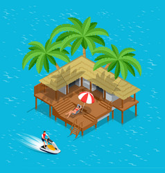 Its summer time or summer vacation concept vector