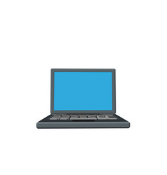 laptop icon 3d front view vector image