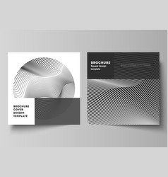 layout two square format covers design vector image