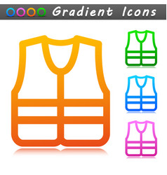 life jacket symbol icon vector image