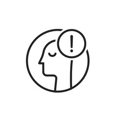 linear man like panic or anxiety logo vector image